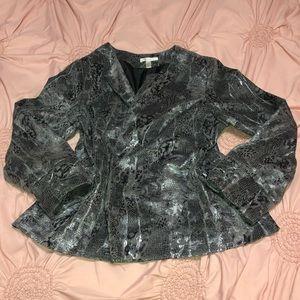 Dressbarn Size 1X Silver Grey Blazer